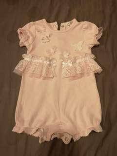 Pink Lacey Baby Romper