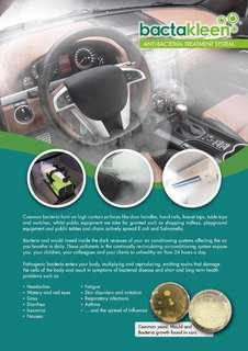 World's No. 1 Anti-Bacterial Treatment System for Car Interior Purifying