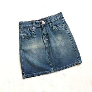 ❤️ Washed Denim Skirt