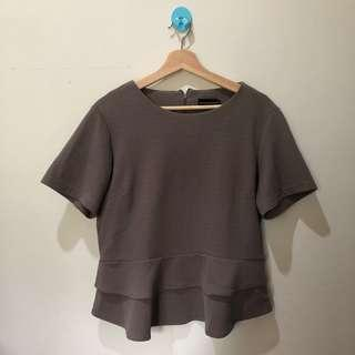 Peplum Top Brown