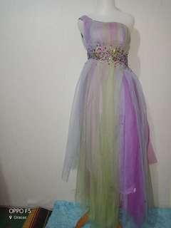 One Shoulder Party Dress/Dress Pesta