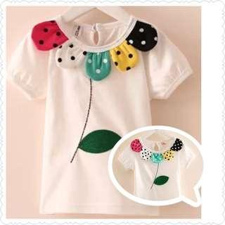 *Special Clearance Sale* White Tee with Flower Petals