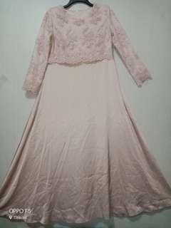 Maxi dress / Gamis / Long dress/ Brukat Dresa