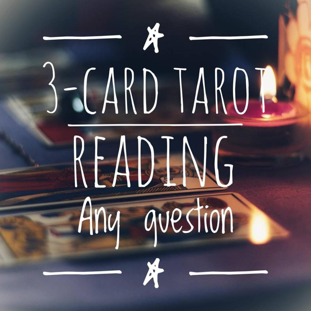 3-card Tarot Reading: Any Question, Everything Else on Carousell