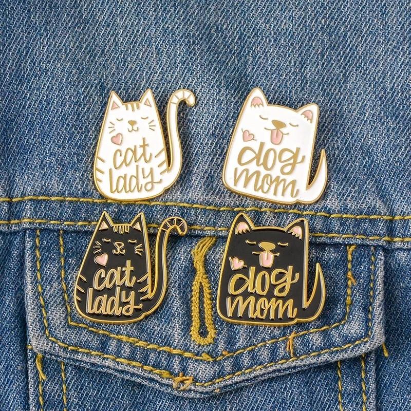 0229a99e3f320 800 white black dog cat mum tumblr cute animal enamel pin