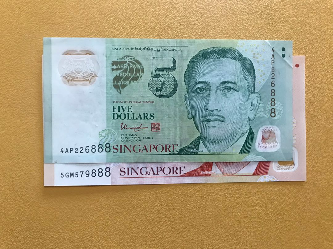 888 Auspicious Serial Number Singapore Banknotes
