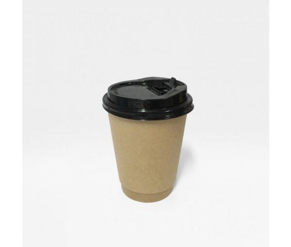 8 Oz Kraft Coffee Cups With Lids Food Drinks Beverages On Carousell