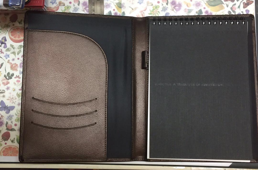 全新!名牌記事簿 有盒  Blancpain Note book with box NEW! 行政人員