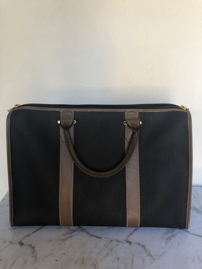 Authentic Dunhill Boston Bag Brown Barely Used Excellent Condition
