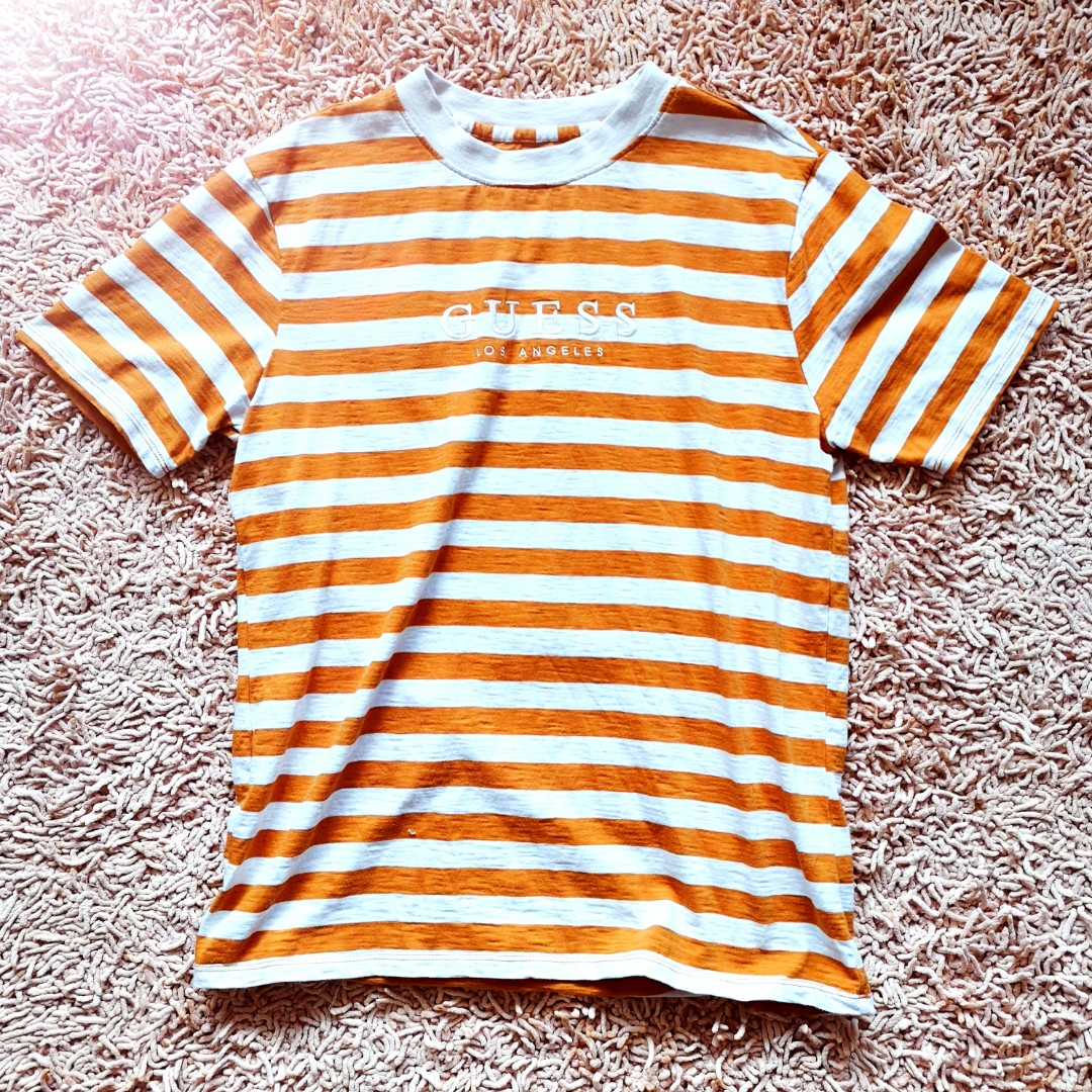 636b201eb6 AUTHENTIC GUESS ORIGINALS STRIPED TEE, Men's Fashion, Clothes, Tops ...