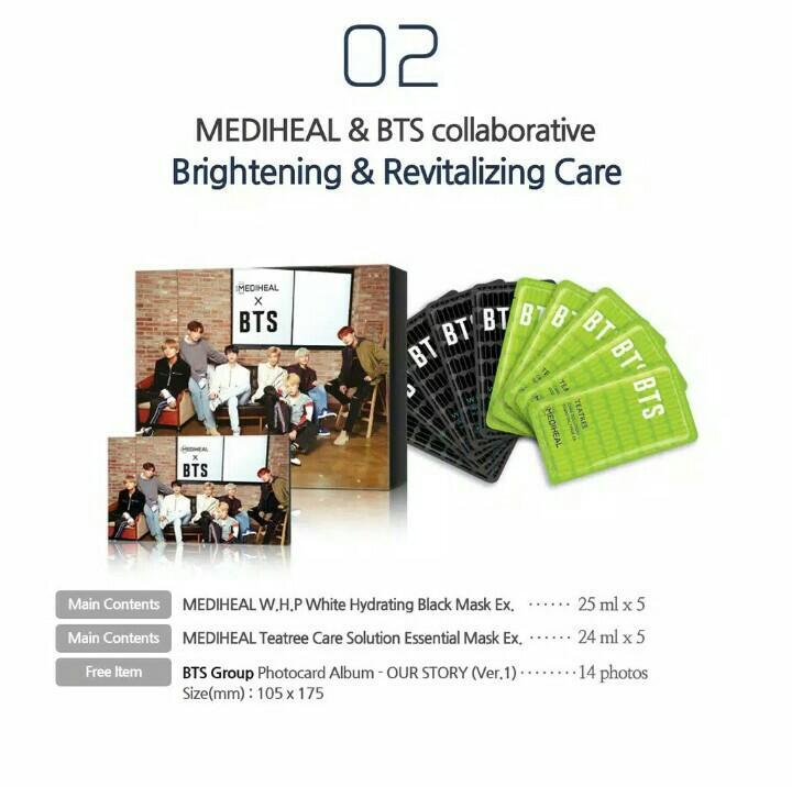 [BTS] BTS X MEDIHEAL Special Edition Facial Mask Sheet Skin Care 10ea+Photocard