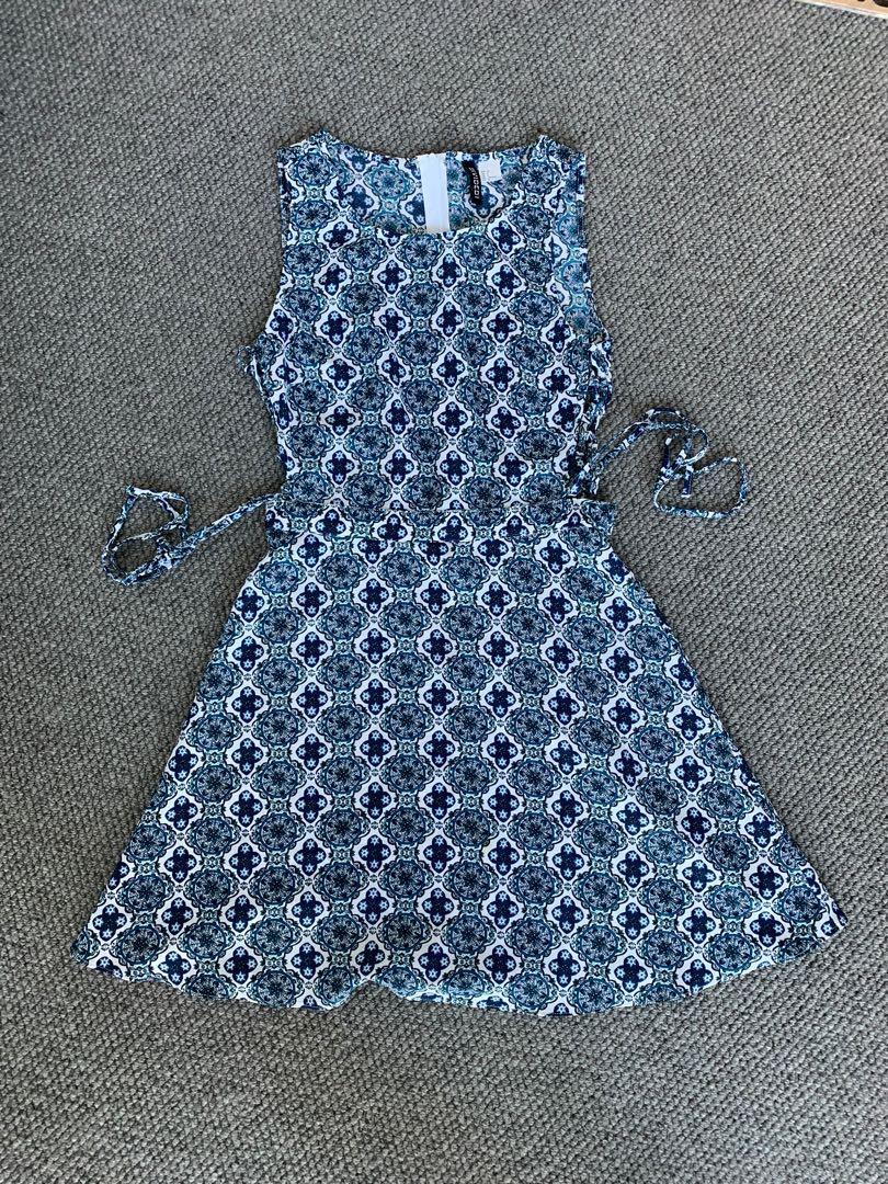 Casual Blue Skater Dress