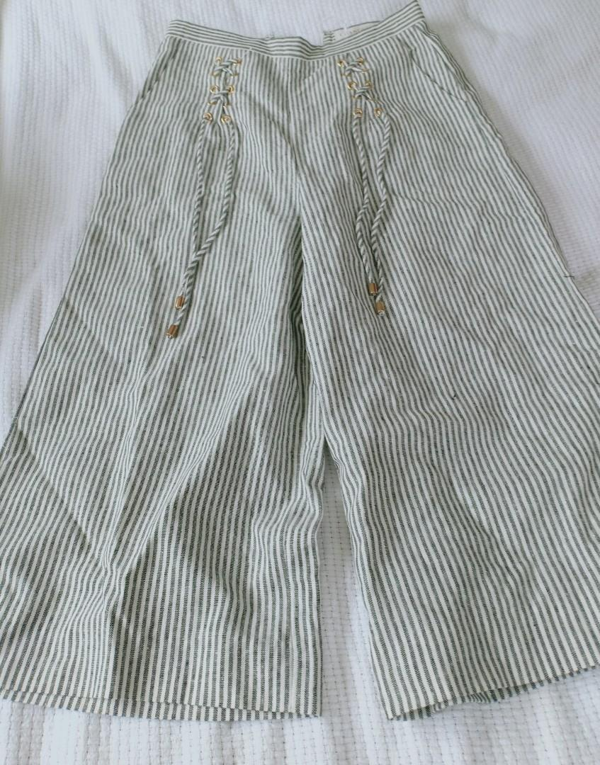 "CHANCERY ""Nina Lace Up Trouser Metallic Stripe"" size 8 New with Tags"
