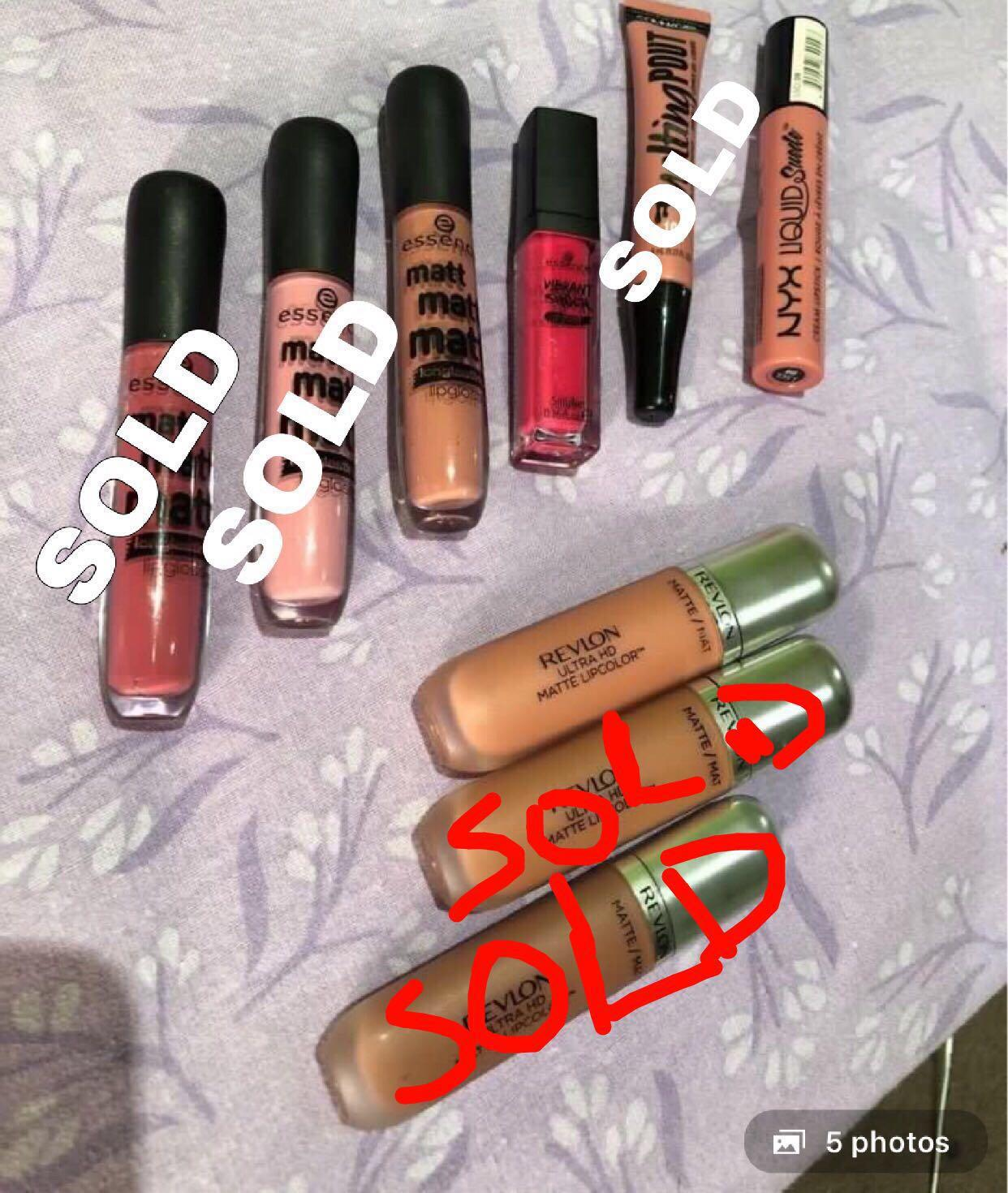 CLEARANCE $2 each! Nyx, Revlon, covergirl and essence lipsticks assorted