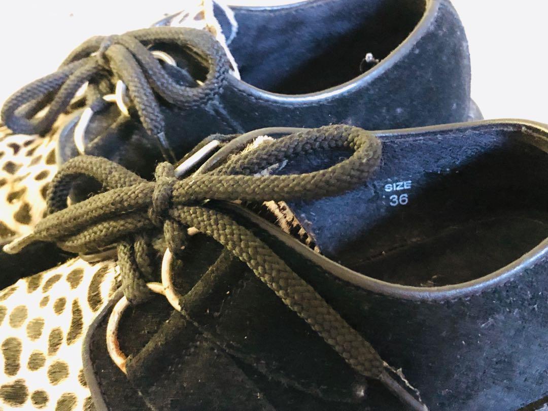 Designer brand Farfetch Understone shoes with high platform