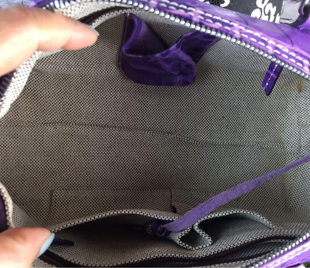 Dooney & Bourke Crocodile-Embossed Shoulder Bag