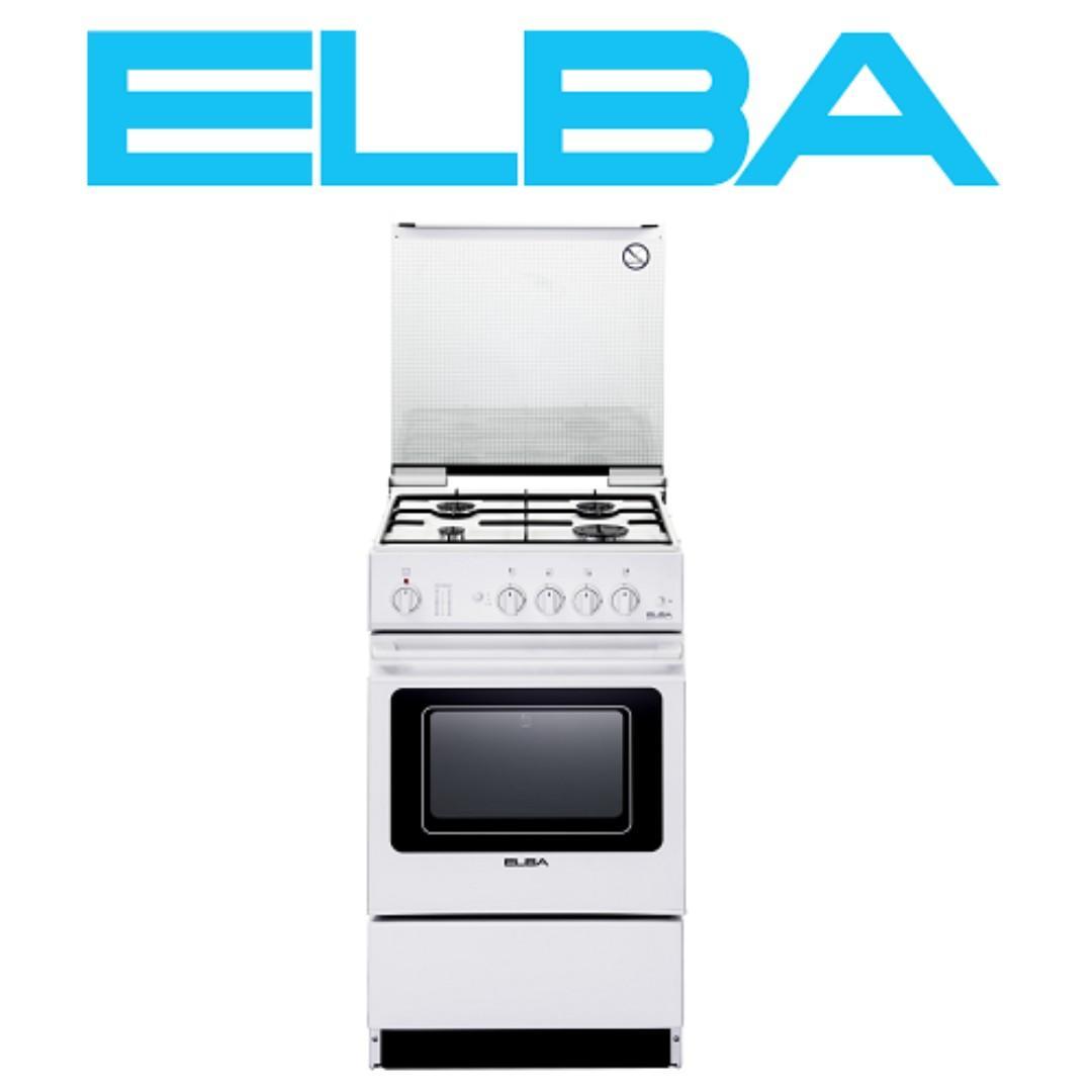 ELBA EEC 566 WH FREE STANDING COOKER (4 BURNER/37L ELECTRIC OVEN)