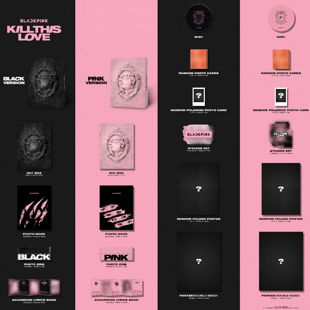 [GROUP ORDER] BLACKPINK - KILL THIS LOVE Album + Poster
