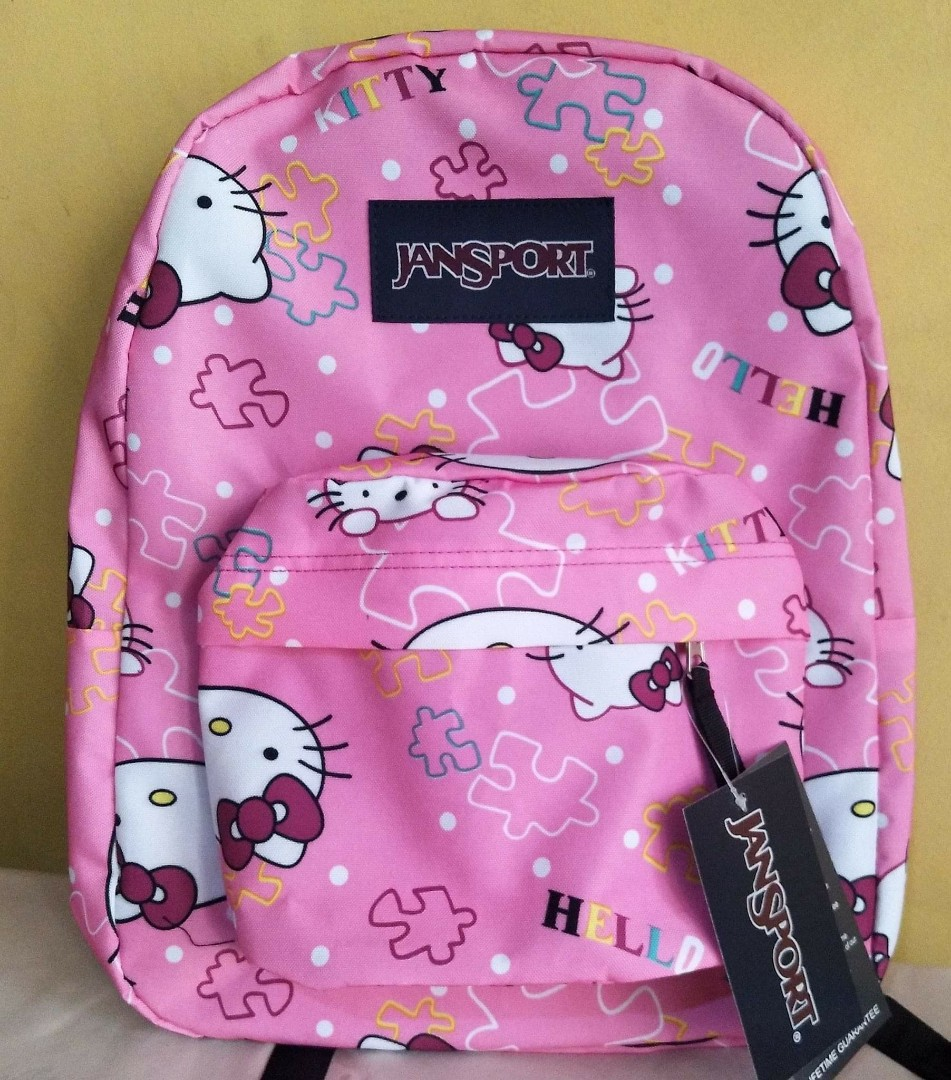 32bede79b Hello kitty jansport original backpack large, Women's Fashion, Bags &  Wallets on Carousell