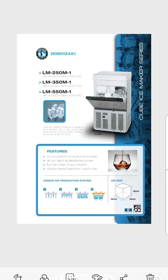 Hoshizaki Big(58mm) Ice cube icemaker machine
