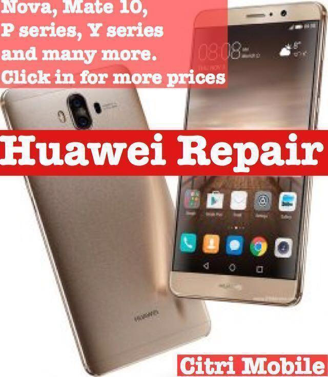 Huawei Phone Screen Repair, Mate 20 P30 P20 Pro Lite Honor Repair