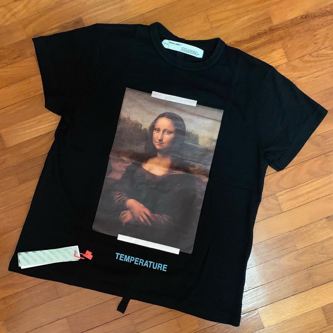 20ab8658 Instock Mona Lisa Off White Tee, Men's Fashion, Clothes, Tops on ...