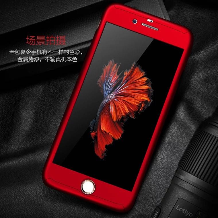 new products 578ae 75a79 iPhone 6S+ Front Back Cover (FREE - Tempered Glass)