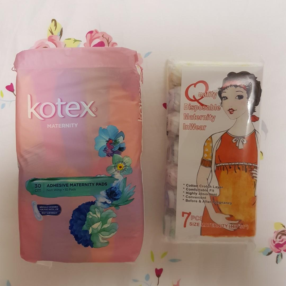 805efdfc7164c Kotex maternity pad & disposable panties, Babies & Kids, Maternity ...
