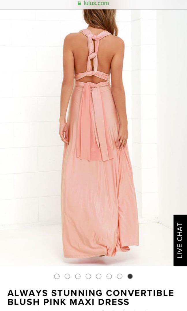 Lulu's convertible maxi dress - size small. Worn once for a photoshoot. No rips or tears.
