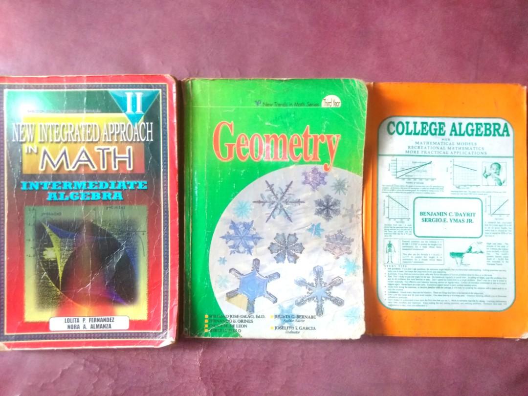 Math Textbooks (Algebra, Geometry) on Carousell