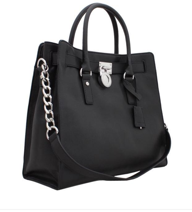 Michael kors hamilton saffiano leather black