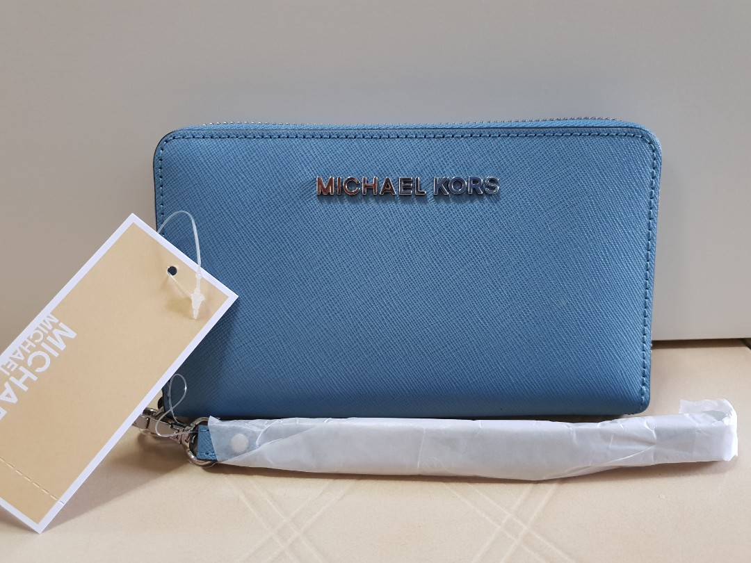 4f17063b8 Michael Kors Jet Set Travel Large Saffiano Wristlet, Women's Fashion ...