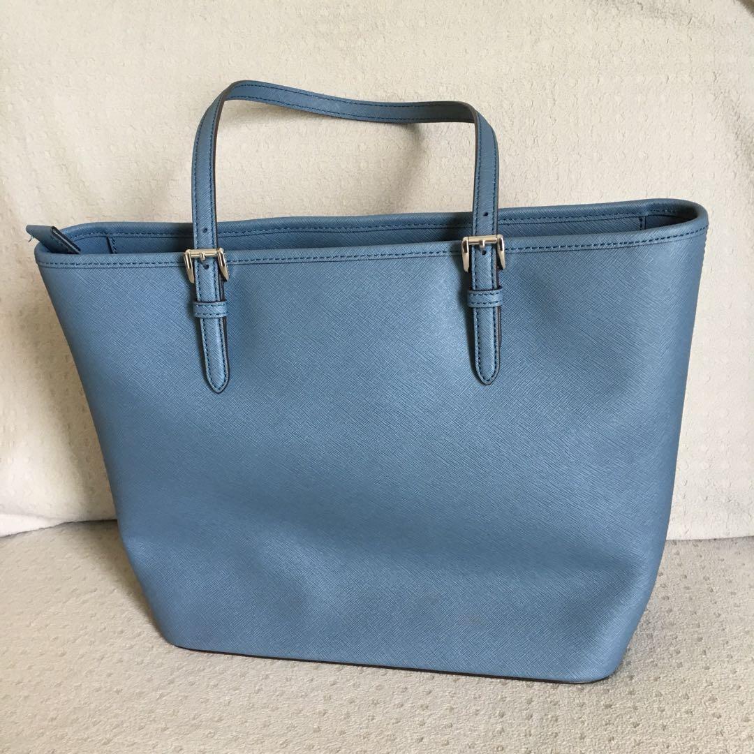 00f6e523d6a3 Michael Kors MK jet set travel large leather tote bag