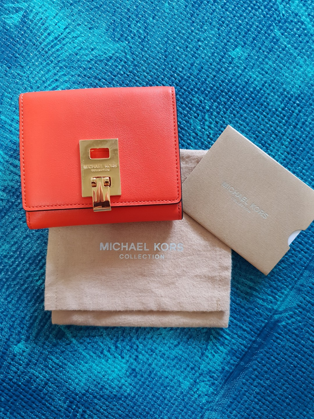5e5468b373c4 Miranda French Calf Wallet by Michael Kors Collection, Luxury, Bags &  Wallets, Wallets on Carousell