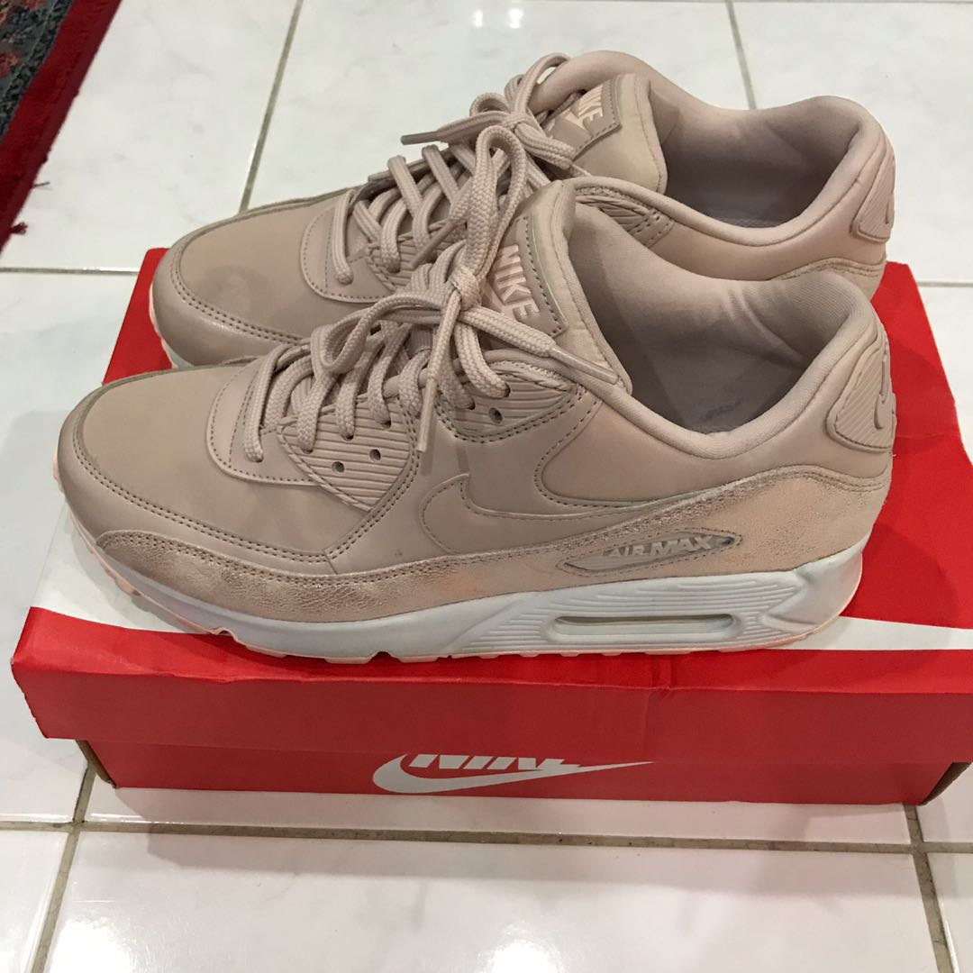 5deded74a1 Nike Air Max 90 premium in particle beige., Women's Fashion, Shoes ...