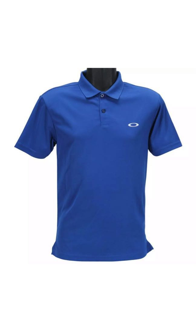 6e83633cc Oakley Tory Polo Mens S Small Sapphire Blue Plain Collared Golf ...