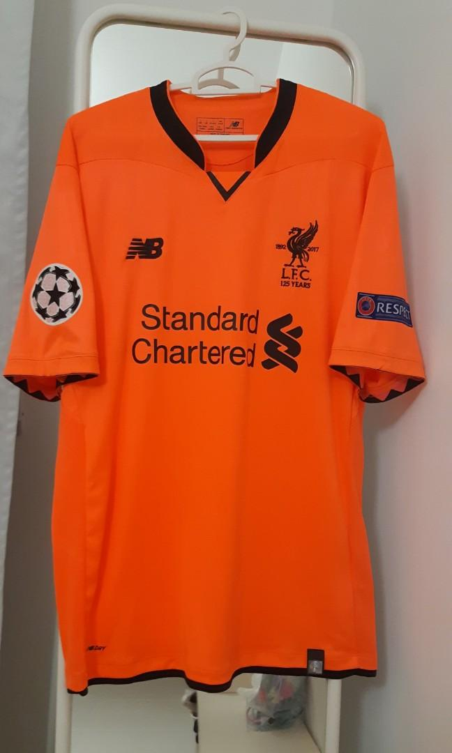 release date: 39491 5bc6a ORIGINAL GRADE) Liverpool 17/18 Citrus Orange 3rd Away ...