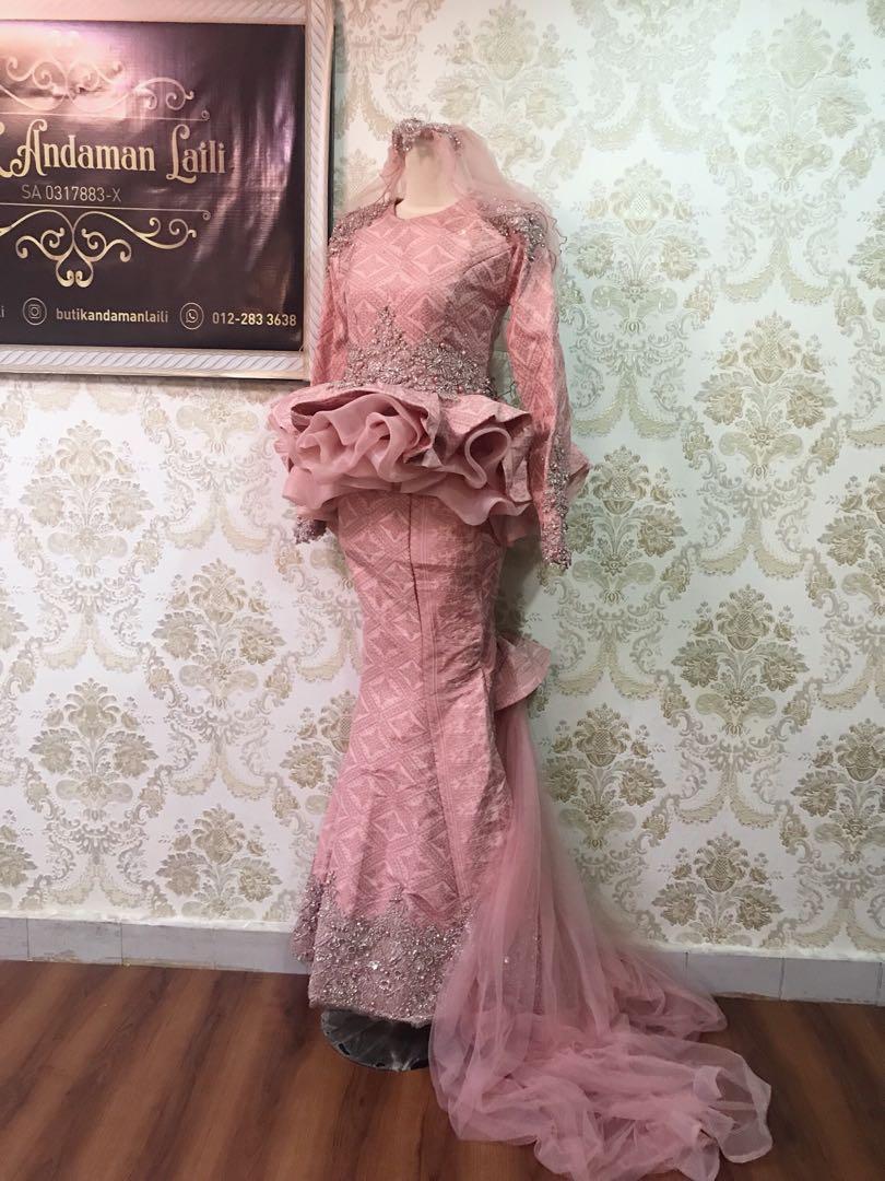 10+ Koleski Terbaru Baju Pengantin Songket Peplum 1019 - JM