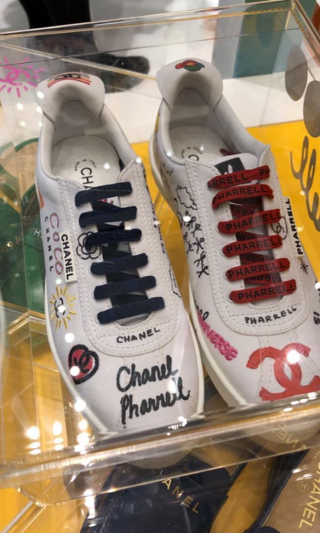 f5d26150c Pharrell Williams x Chanel Capsule Collection Sneakers  LIMITED ED ...