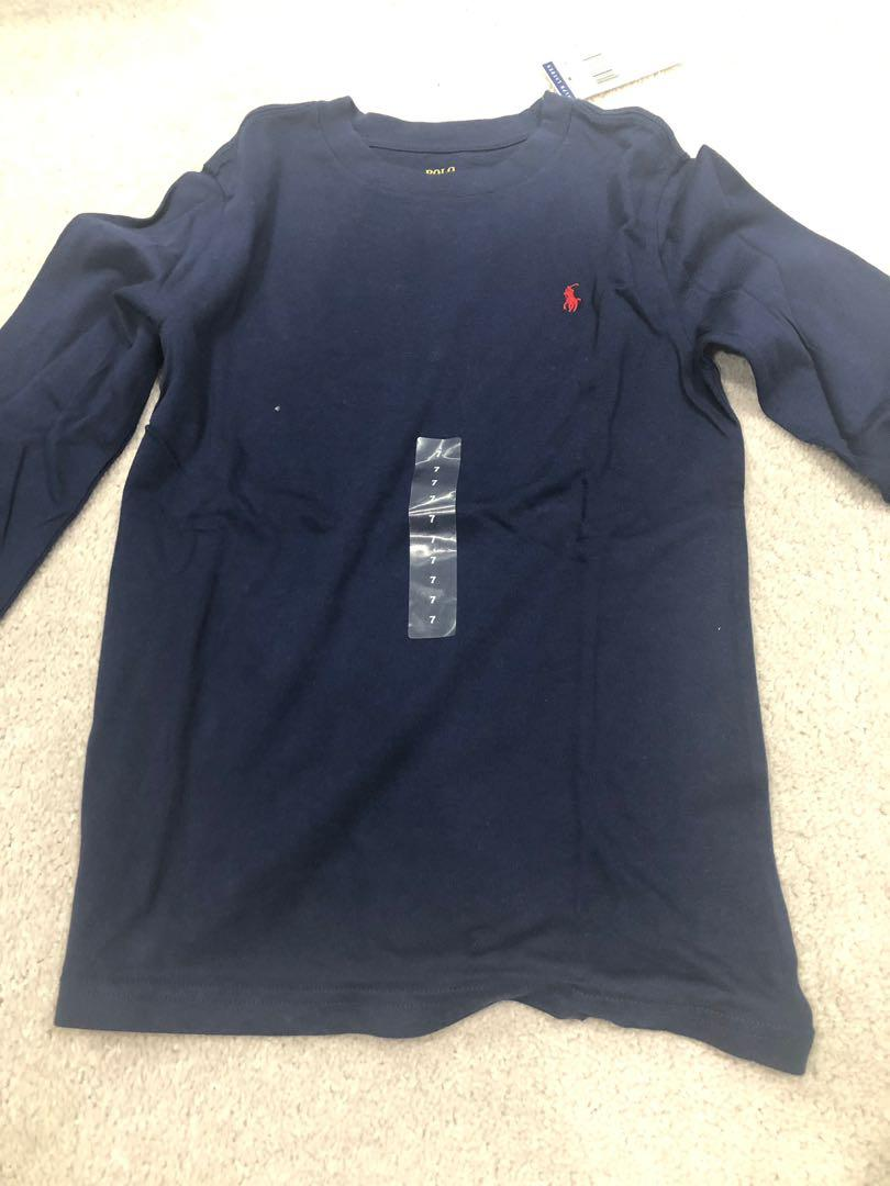 Polo Ralph Lauren long sleeve top. Size 7. Brand new with tags