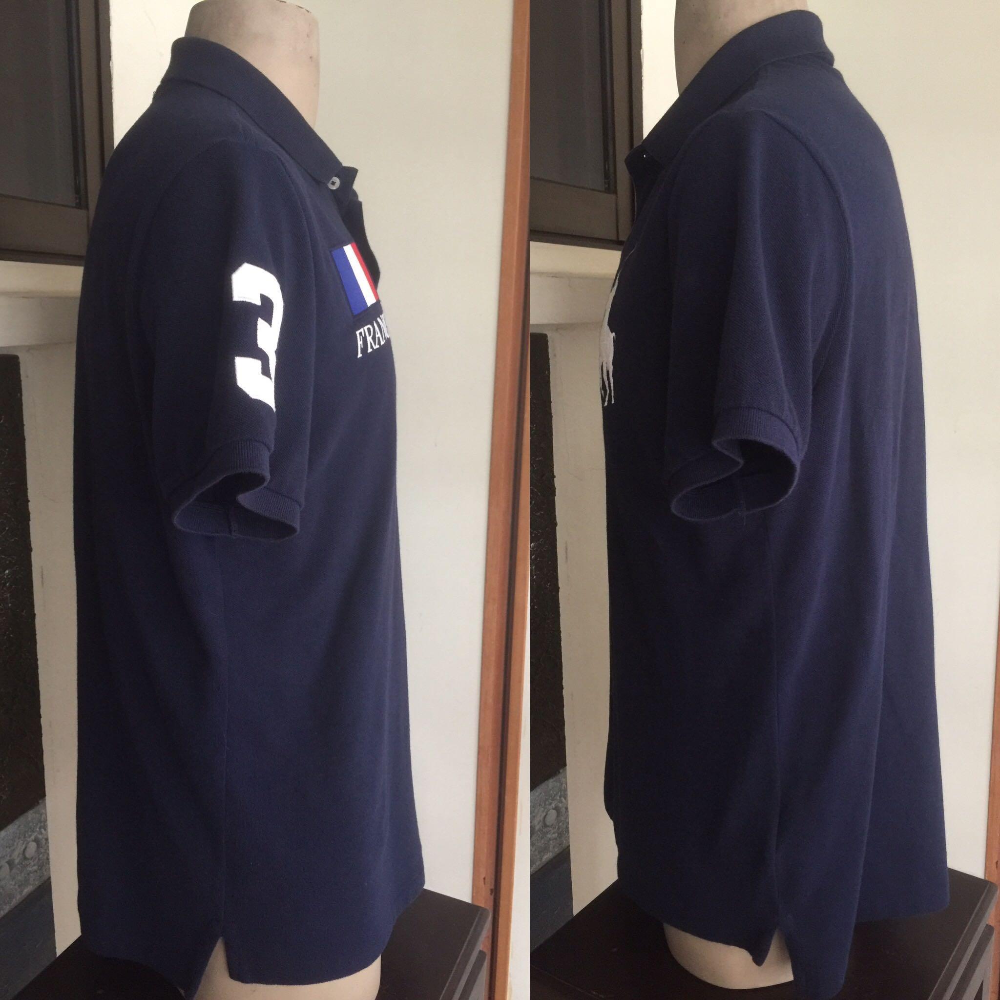Polo Ralph Lauren Shirt Sz L Navy Slim Fit