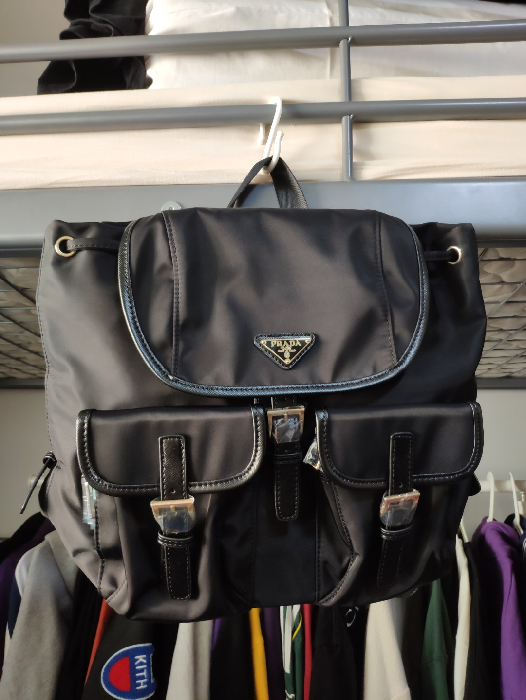 c325a7d96c2081 Prada Nylon Vela Backpack, Women's Fashion, Bags & Wallets ...