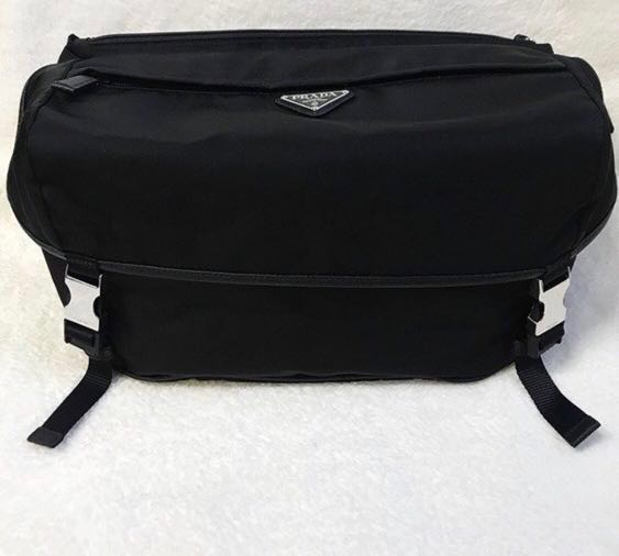 456f03924385 Prada Technical Fabric Nylon Sling Messenger Bag, Men's Fashion ...
