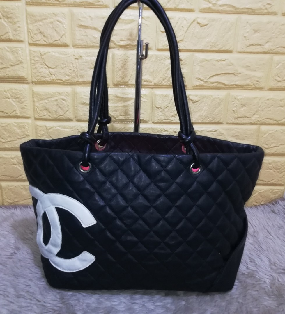 9c8b4f024c2f2b Preloved Authentic CHANEL Cambon Large Tote Bag on Carousell