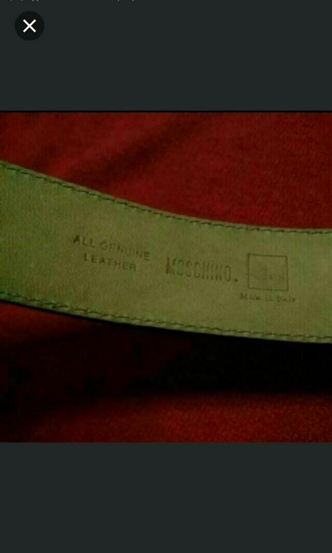 PRICE REDUCED. MOSCHINO BELT. Authentic. Bought From Boutique. No Box. New. Thank You. 2 AVAILABLE ONLY
