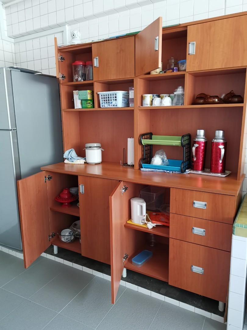 Rarely Used Kitchen Cabinet Furniture Home Living Furniture Shelves Cabinets Racks On Carousell