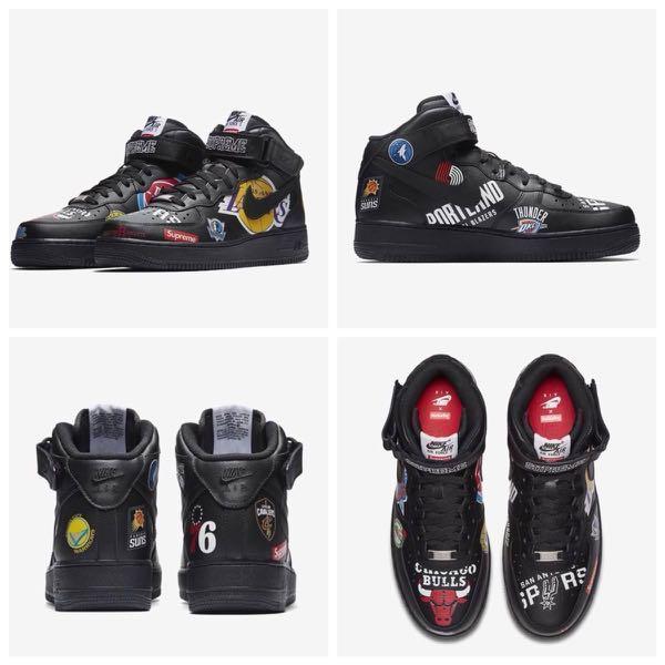 6da5715f4415 Supreme x Nike x NBA Air Force 1 Black Mid