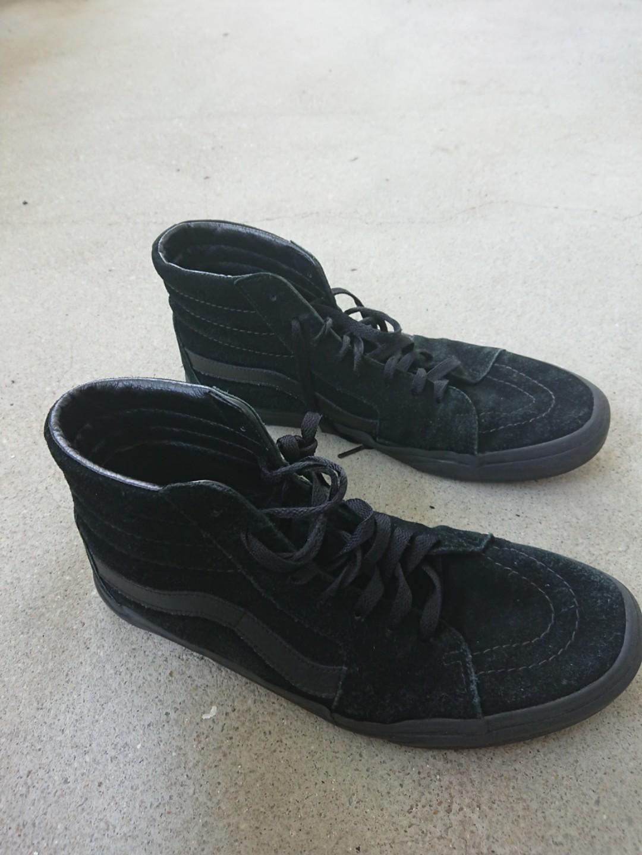 Vans Sk8-Hi Suede Trainers Black, Men's