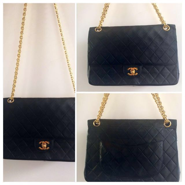 3c0719ebb394 Vintage Chanel Double Flap GHW CC Mademoiselle Chain Black Bag Authentic,  Luxury, Bags & Wallets, Handbags on Carousell