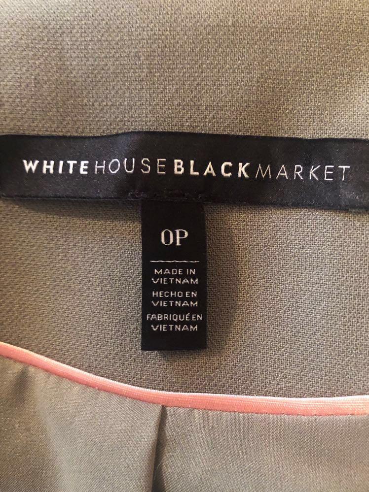 White Black Market Trophy Jacket Blazer Double Breasted Womens size 0P